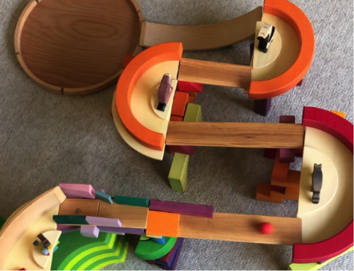 Grimm's Marble Runs, with natural elements